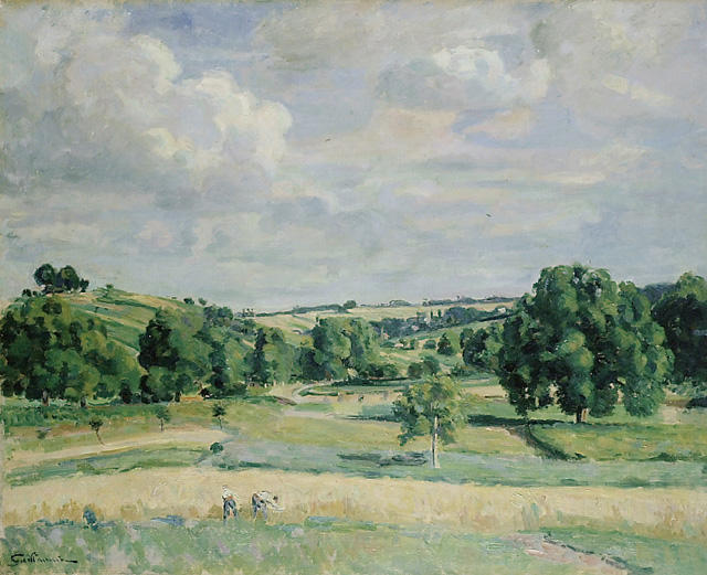 famous painting Landscape. Harvest-time in the Somme Valley of Jean Baptiste Armand Guillaumin