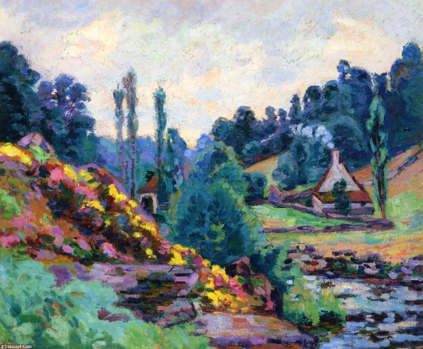 famous painting Le Moulin de Jonon Creuse of Jean Baptiste Armand Guillaumin
