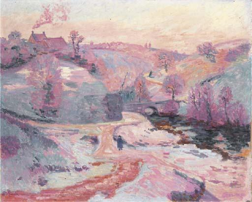 famous painting Le pont Charraud of Jean Baptiste Armand Guillaumin