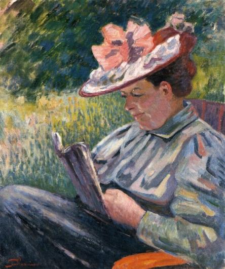 famous painting Madame Guillaumin Reading in the Garden of Jean Baptiste Armand Guillaumin