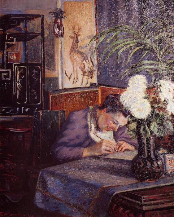 famous painting Madame Guillaumin Writing of Jean Baptiste Armand Guillaumin
