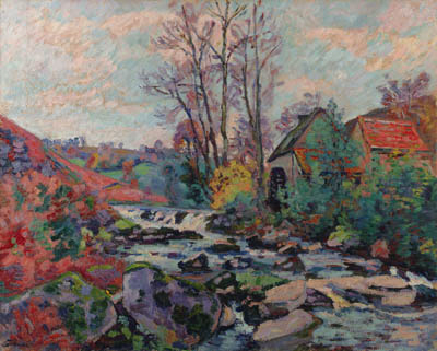 famous painting Moulin Bouchardon Crozant of Jean Baptiste Armand Guillaumin