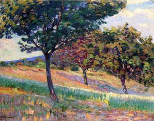 Jean Baptiste Armand Guillaumin - Orchard at the Edge of the Woods in Saint-Cheron