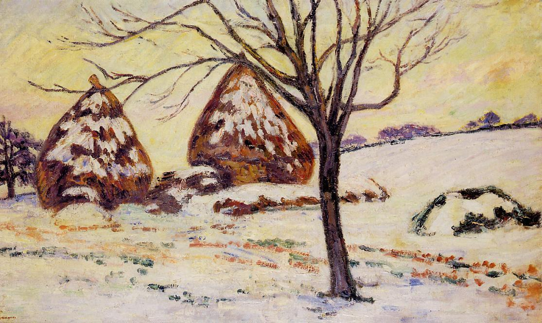 famous painting Palaiseau - Snow Effect of Jean Baptiste Armand Guillaumin