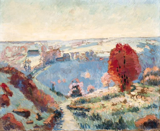 famous painting Paysage d'automne of Jean Baptiste Armand Guillaumin