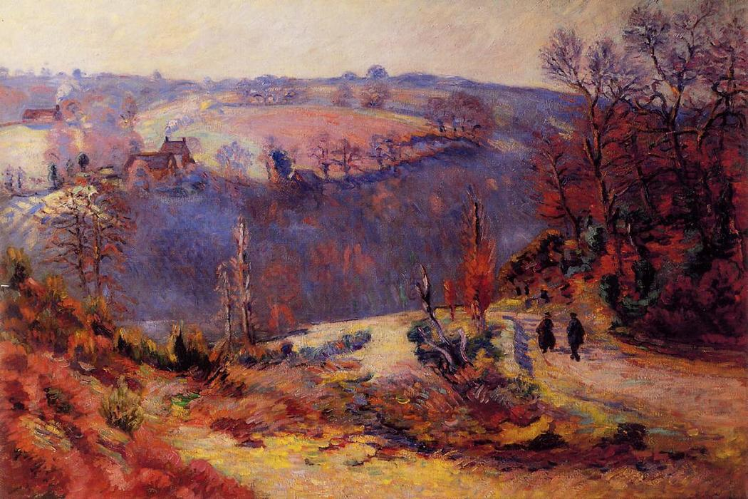famous painting Pont Charraud - Hoarfrost of Jean Baptiste Armand Guillaumin