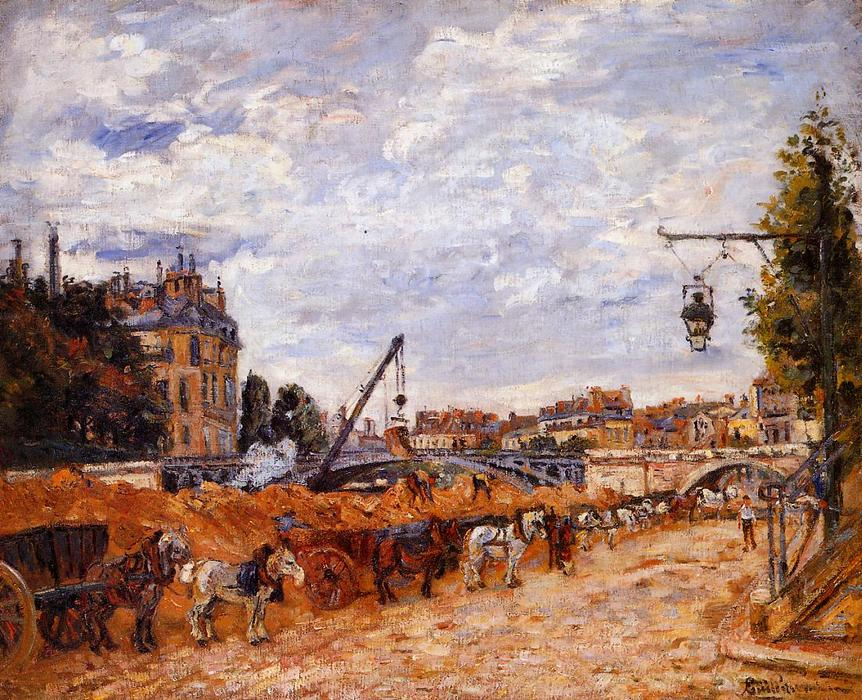 famous painting Pont Marie, Quai Sully of Jean Baptiste Armand Guillaumin