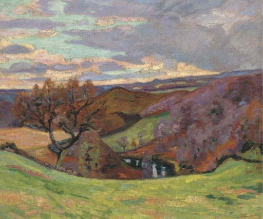 famous painting Puy Barriou of Jean Baptiste Armand Guillaumin