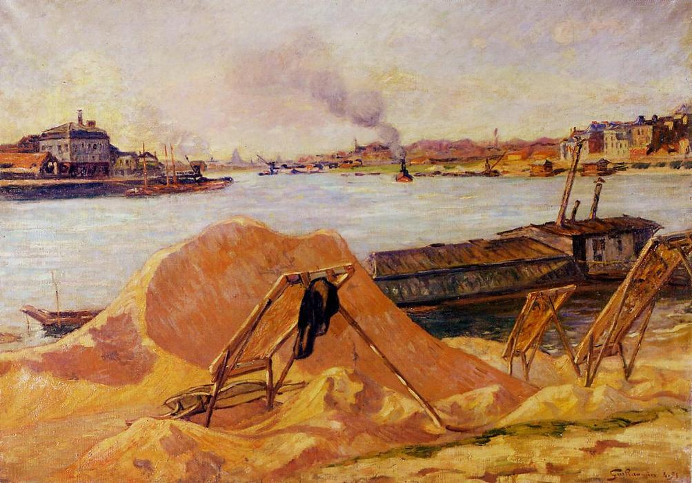 famous painting Quay de Bercy of Jean Baptiste Armand Guillaumin