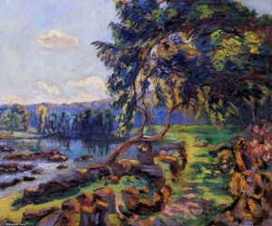 Jean Baptiste Armand Guillaumin - Rapids at Genetin