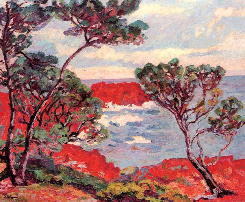 famous painting Red Rocks of Jean Baptiste Armand Guillaumin