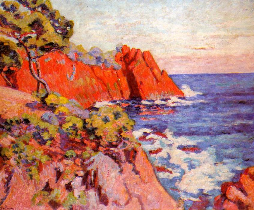 famous painting Rocks on the Coast at Agay of Jean Baptiste Armand Guillaumin