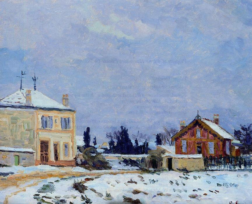famous painting Snow of Jean Baptiste Armand Guillaumin
