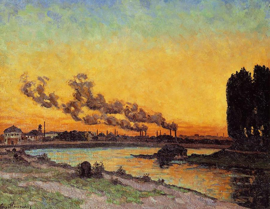 famous painting Sunset at Ivry of Jean Baptiste Armand Guillaumin