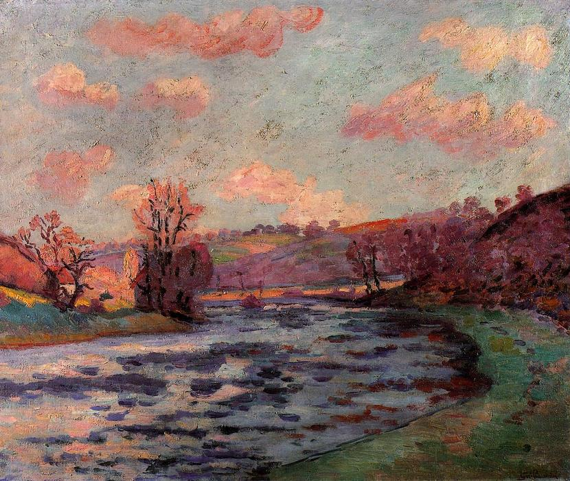 famous painting The Banks of the Creuse River of Jean Baptiste Armand Guillaumin
