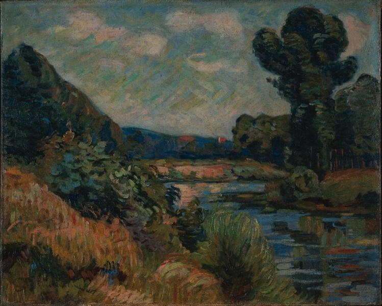 famous painting The Banks of the Marne at Charenton of Jean Baptiste Armand Guillaumin