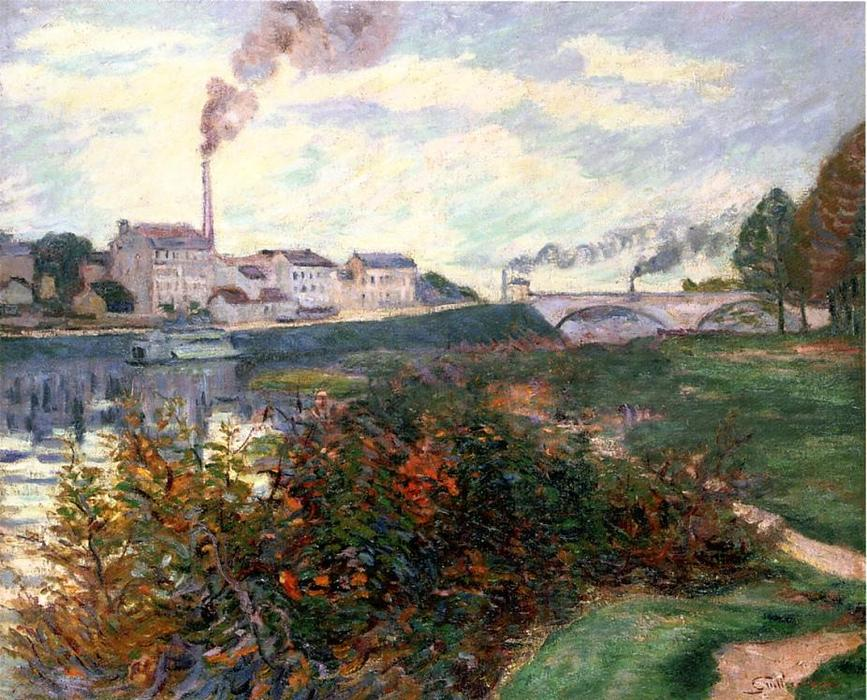 famous painting The Banks of the Marne of Jean Baptiste Armand Guillaumin
