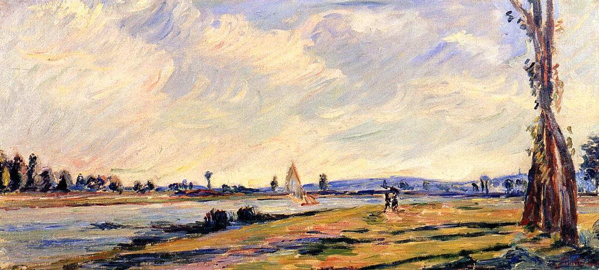 famous painting The Banks of the River 1 of Jean Baptiste Armand Guillaumin