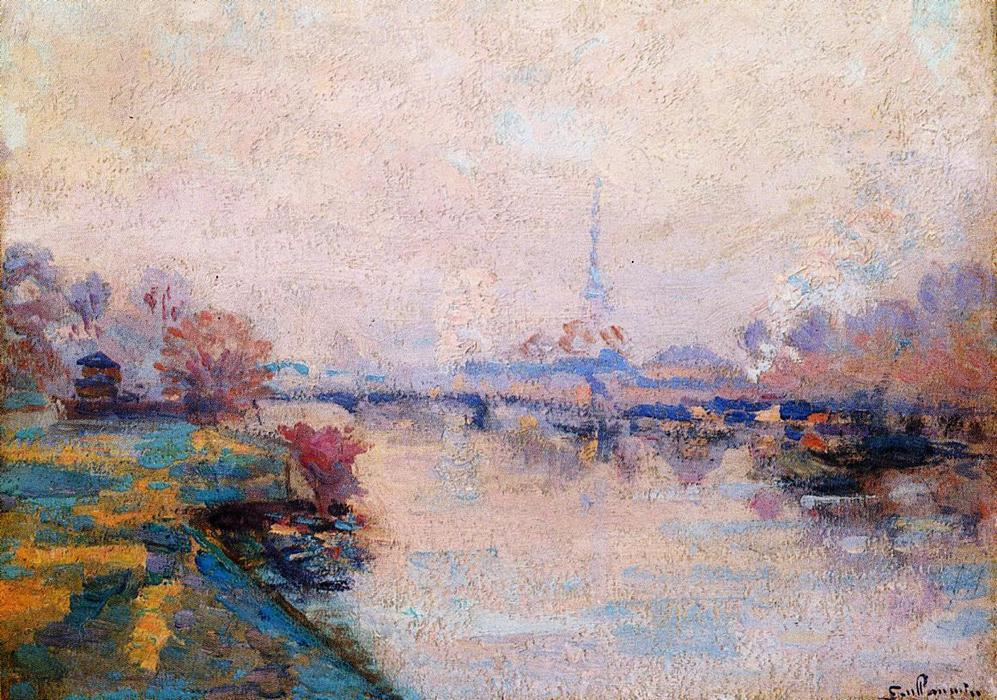 famous painting The Banks of the Seine at Paris of Jean Baptiste Armand Guillaumin