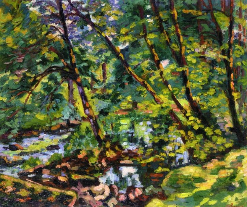 famous painting The Banks of the Sioule of Jean Baptiste Armand Guillaumin