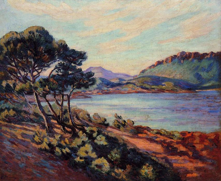 famous painting The Bay at Agay of Jean Baptiste Armand Guillaumin