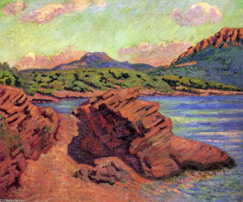 famous painting The Bay of Agay of Jean Baptiste Armand Guillaumin