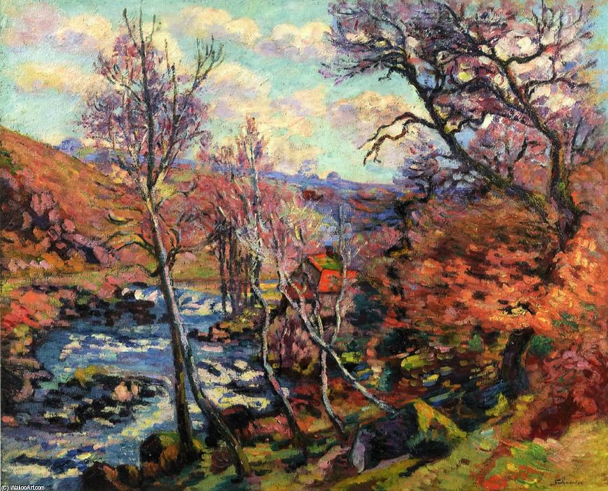 famous painting The Bouchardon Mill at Crozant of Jean Baptiste Armand Guillaumin