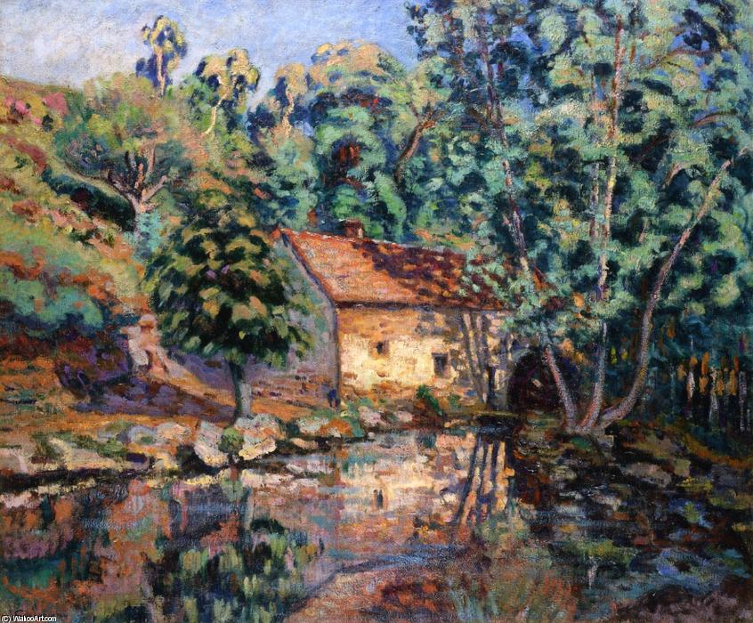 famous painting The Bouchardon Mill, Crozant of Jean Baptiste Armand Guillaumin