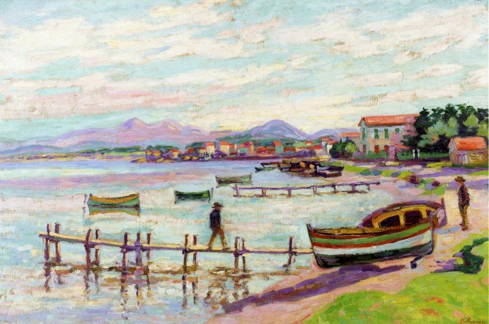 famous painting The Brusc of Jean Baptiste Armand Guillaumin