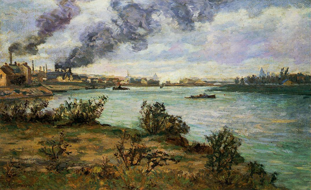 famous painting The Confluence of the Seine and Marne at Ivry of Jean Baptiste Armand Guillaumin
