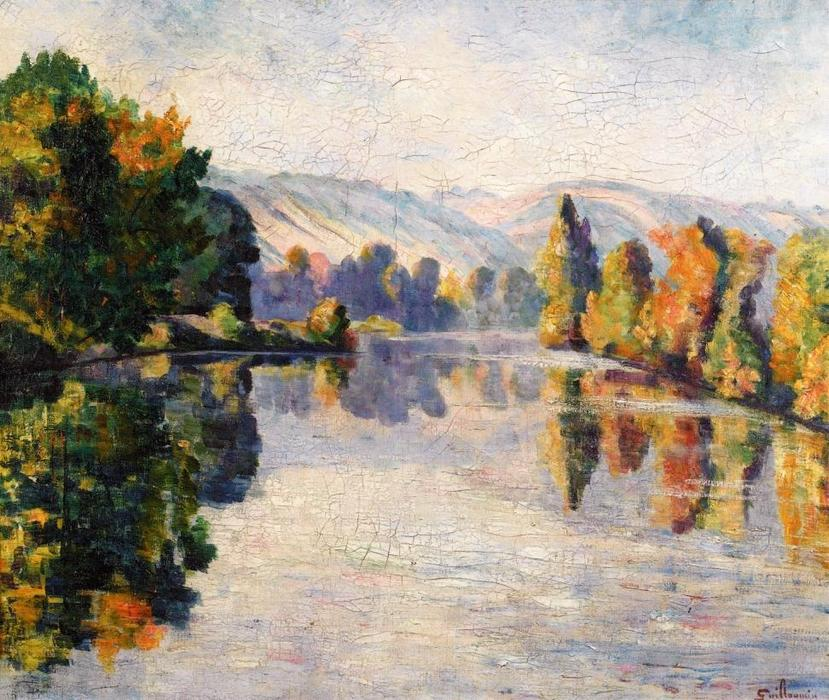 famous painting The Creuse in Autumn of Jean Baptiste Armand Guillaumin