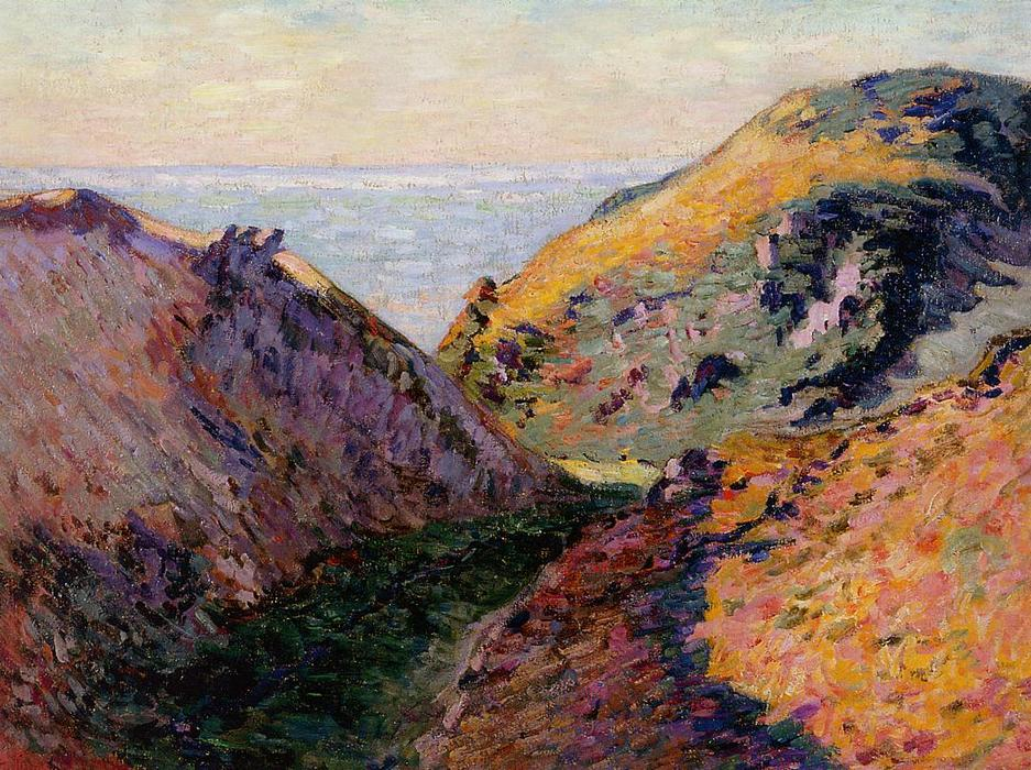 famous painting The Lude Valley at Carolles of Jean Baptiste Armand Guillaumin