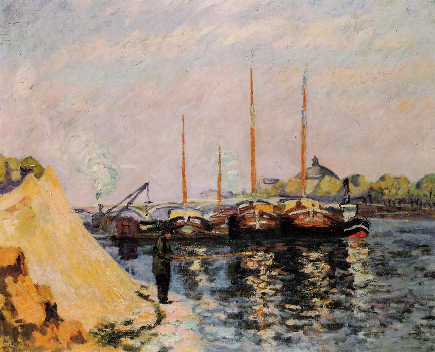 famous painting The Quay d'Austerlitz, Morning of Jean Baptiste Armand Guillaumin