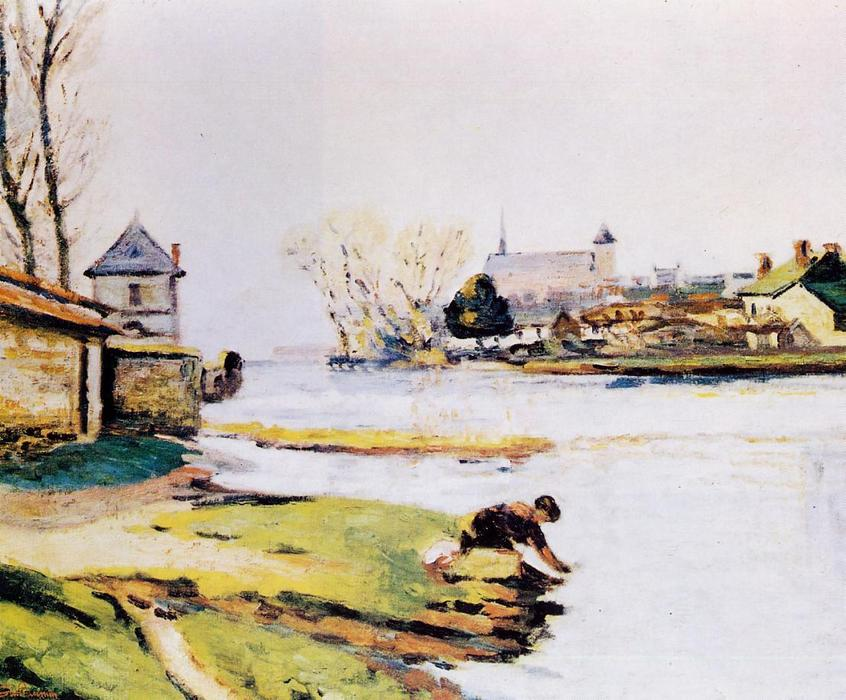 famous painting The Resevoir at Poitiers of Jean Baptiste Armand Guillaumin