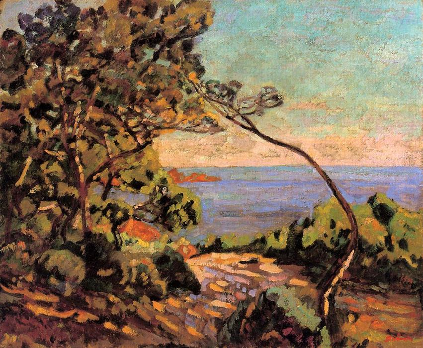 famous painting The Sea at Pointe de la Perriere, Saint-Palais of Jean Baptiste Armand Guillaumin