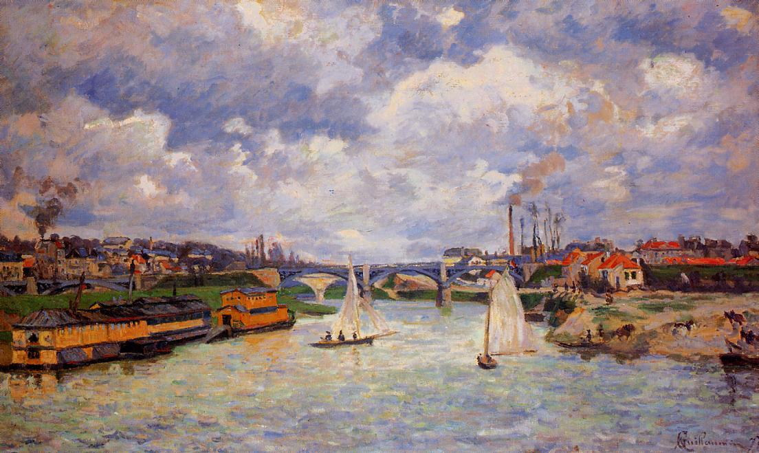 famous painting The Seine at Charenton 2 of Jean Baptiste Armand Guillaumin