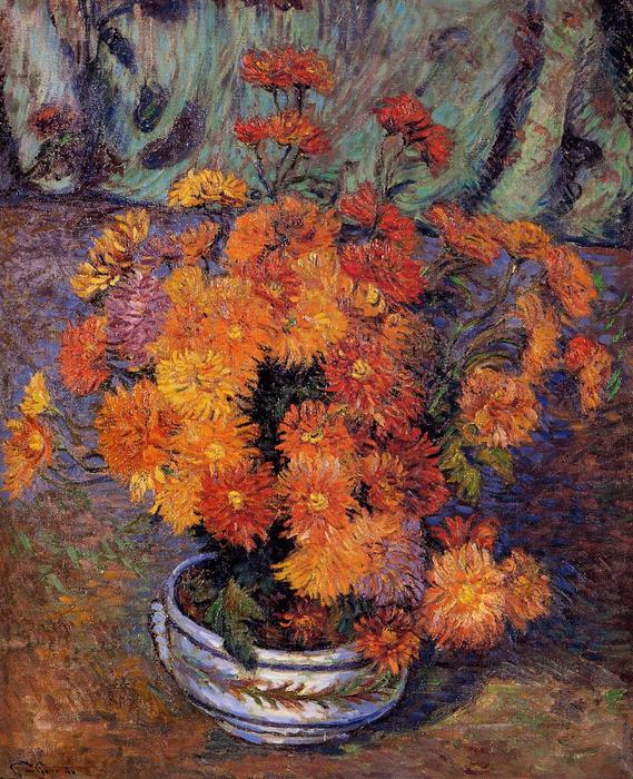 famous painting Vase of Chrysanthemums of Jean Baptiste Armand Guillaumin
