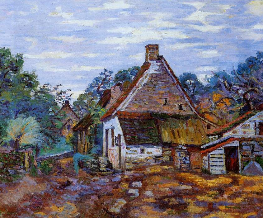 famous painting Village of Jean Baptiste Armand Guillaumin