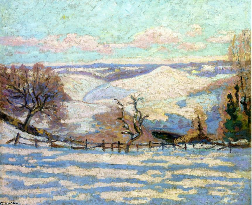 famous painting White Frost at Puy Barriou, Crozant of Jean Baptiste Armand Guillaumin