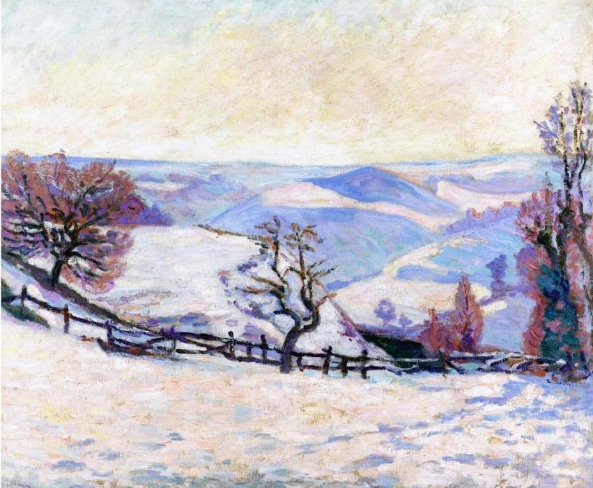 famous painting White Frost at Puy Barriou of Jean Baptiste Armand Guillaumin