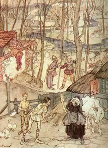 Arthur Rackham - They offered a cow for each leg of her cow, but she would not accept that offer
