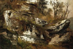 Asher Brown Durand - Rocky cliff