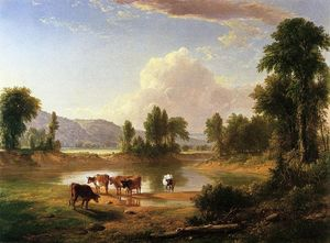 Asher Brown Durand - View of esopus creek, ulster county, new york