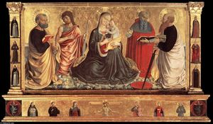 Benozzo Gozzoli - Madonna and Child with Sts John the Baptist, Peter, Jerome, and Paul