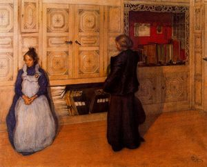 Carl Larsson - Mother and daughter