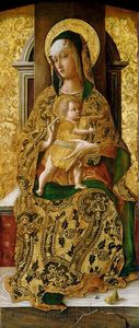 Carlo Crivelli - Madonna Enthroned with Child