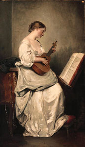 Charles Chaplin - Woman playing a Guitar