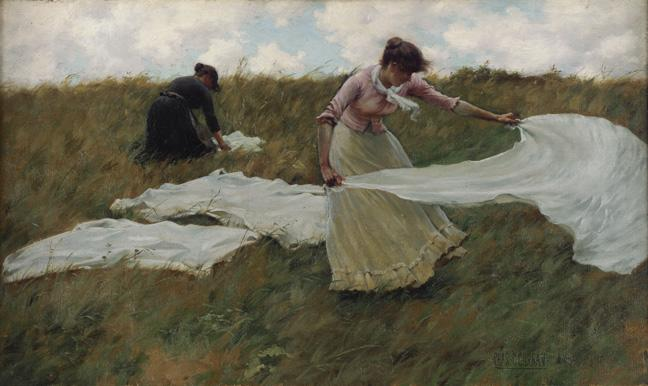 famous painting A Breezy Day of Charles Courtney Curran