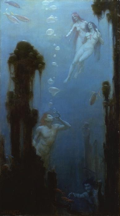 famous painting A Deep Sea Fantasy of Charles Courtney Curran