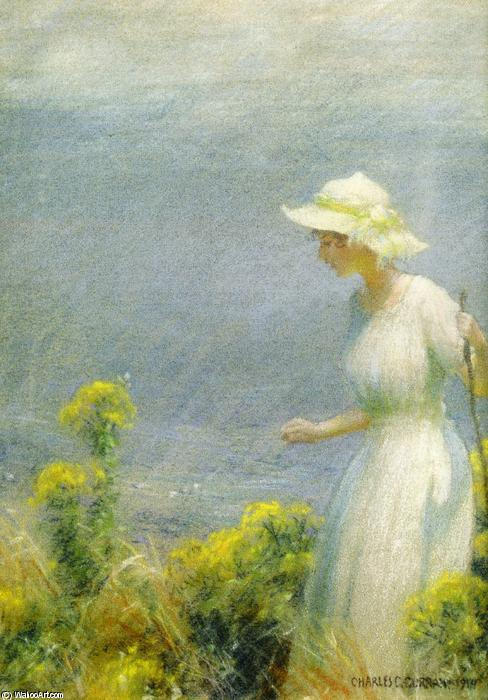 famous painting A Summer Walk of Charles Courtney Curran